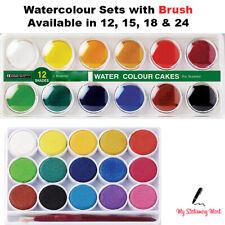 WATERCOLOUR PAINTS SET STUDENT WATER COLOUR PAINTING ARTIST Palette Case Brush
