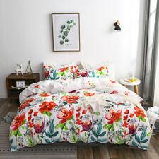 New Flower Printed Bedding Sets Soft Comforter Quilt Duvet Cover & Pillow Cases