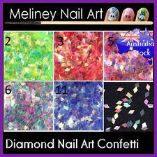 2mm 3mm Diamond Glitter Confetti Nail Art Decoration Set Manicure Party Supply