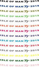ISLE OF MAN TT 2019 HELMET VISOR STICKER MOTORBIKE ROAD RACING DECALS 18 COLOURS