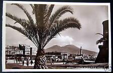 Italy~ITALIA~1930s NAPOLI~TROLLEY STATION~Volcano~RPPC