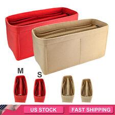 Felt Purse Handbag Organizer Insert Pocket Storage Tote Shaper Liner Bag M/L New