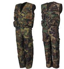Tarnanzug Kinder Anzug  Flecktarn Woodland Weste u Hose XS-XXL Kinderset Army