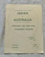 #T83. 1957 INTERNATIONAL TABLE TENNIS PROGRAM - JAPAN V AUSTRALIA
