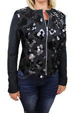 Diamond veste gilet noir femme lumière casual veste avec paillettes