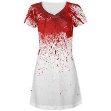 Halloween Horror Movie Victim Decapitation All Over Juniors Beach Cover-Up Dress