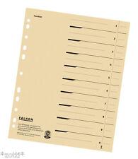 séparateur papier crème Registre déposants carton pour A4 Classeur (24x30) #