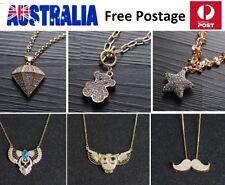 Woman Jewelry Luxury Party Necklace Rhinestone CZ Crystal Teddy Star Angel JG55