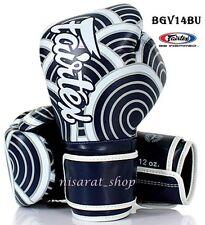 Fairtex Boxing Gloves Bgv14 Blue 8,10,12,14,16 Oz Sparring Muay Thai Mma K1