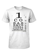 AproJes Ahora veo con Jesus Tabla Ocular Optometrica Snellen Camiseta Cristiana