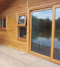 Oak on White Sliding Patio uPVC / Patio Doors / 2000mm x 2100mm / BRAND NEW