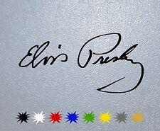 STICKER PEGATINA DECAL VINYL Elvis Presley Signature