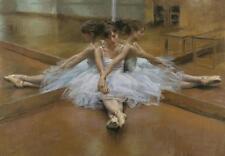 Bailarina De Ballet relajante múltiples Tamaño tela pared arte cartel impresión Danza Baile