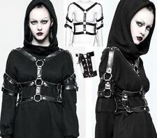 Harnais veste gothique punk steampunk bondage cuir laçage anneaux métal PunkRave