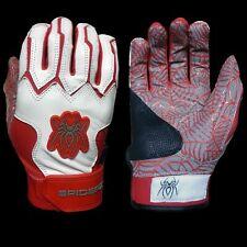 2015 Spiderz Web White/Red Batting Gloves