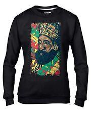 Haile Selassie Rasta Reggae Wall Art Women's Sweatshirt Jumper