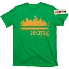 City of Seattle Washington Tacoma grunge supersonics 90s kurt cobain T Shirt Tee