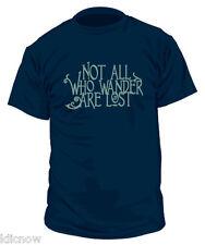 Pas tous qui errent T Shirt Col V Homme