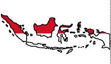 Auto Aufkleber Indonesien Car Sticker Indonesia worldwide shipping!