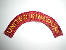 U.S. ARMY TRANSPORTATION TERMINAL CMD UNITED KINGDOM TAB PATCH