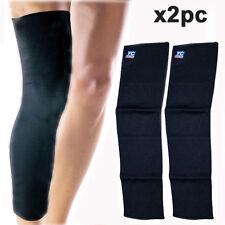 EXTRA lungo ginocchio supporto elasticizzato gamba più caldo Bandage manica VITELLO PATELLA Guard
