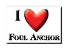 SOUVENIR UK - ENGLAND FRIDGE MAGNET I LOVE FOUL ANCHOR (CAMBRIDGESHIRE)