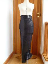 ATMOSPHERE PRIMARK BLACK SEQUINNED SLIM COLUMN MAXI SKIRT FRONT SLIT 8 10 12 NEW