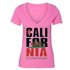 California Republic State T-Shirt Summer Flag Bear West Side Cali Tshirt
