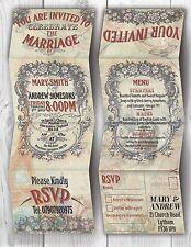 Personalised HANDMADE Paris Wedding Day Invites / Evening Invitations + Envelope