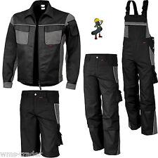 Arbeitslatzhose Arbeitshose Arbeitsjacke Arbeitskleidung schwarz/grau Übergrößen