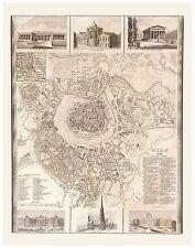 Alte Wien Illustriert Stadtplan Landkarte Meyer ca. 1844 - 1860