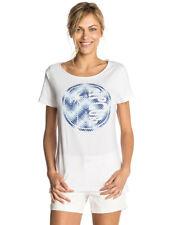 Rip Curl Hibiscus Beach Short Sleeve T-Shirt in White