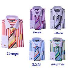 Men's 60% cotton 40% Polyester Strip Shirts Design By FORTINO LANDI FL629