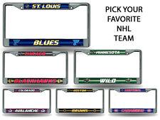 NHL Teams - Licensed Bling Glitter Chrome License Plate Frame Car Truck Wall