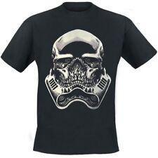 Heartless Man T-Shirt - Skull Trooper Front Back Print Totenkopf schwarz