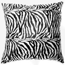 Ff05a Faux Fur Black White Zebra Skin Print Cushion Cover/Pillow Case*Custom Siz