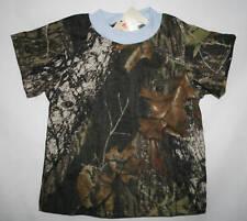 Mossy Oak Camo Blue Trim Baby Boys Shirt, Kids Toddler Camouflage