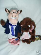 "Bill Bull Clinton and Buddy the Dog 5"" Bean Bag Toy"