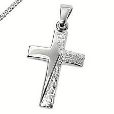 Kreuz Kreuzanhänger 925 Silber Kommunion Konfirmation Taufe Neu auch mit Kette