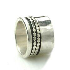 Breiter Unisex Ring 925er Silber mit drehbaren Elementen