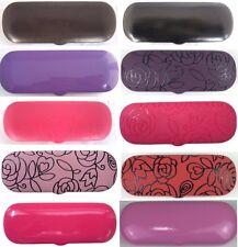 C13 Reading Glasses Metal Case/Stylish Rose Pattern/Plain PVC Faux Leather Cover