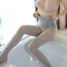 Women High Waist No Seam Pantyhose Shiny Glossy Seamless Tights Nylons Pantyhose
