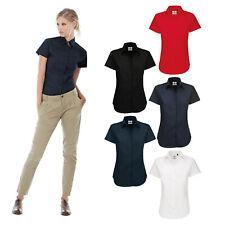 B&C Collection Women's Sharp Short Sleeve Shirt SWT84 - Work Smart Formal Blouse