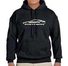 DeTomaso Pantera Exotic Car Classic Outline Design Hoodie Sweatshirt FREE SHIP