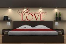 Tutto ciò che serve è amore! SMART Adesivi Da Parete Decalcomania facile da applicare - 40 cm x 95 cm NUOVO