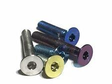 M3 Titanio Tornillos de Cabeza Avellanada garantía de por vida 7 Colores Paquete De 4