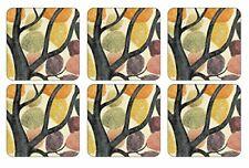 Pimpernel Soporte de vasos de MDF 10,5 x 10,5, diseño de ramas, multicolor 6 ...