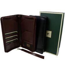 Visconti homme en cuir de voyage portefeuille cartes de crédit Porte-passeport 2 Couleurs Noir
