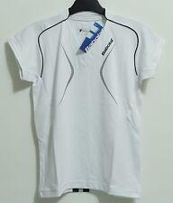 SALE: Babolat Club Damen Funktions-Shirt, weiss, Polo mit V-Kragen