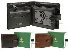 Visconti Da Uomo in Pelle Portafoglio per le schede, note con RFID Protezione dalle frodi-tsc42
